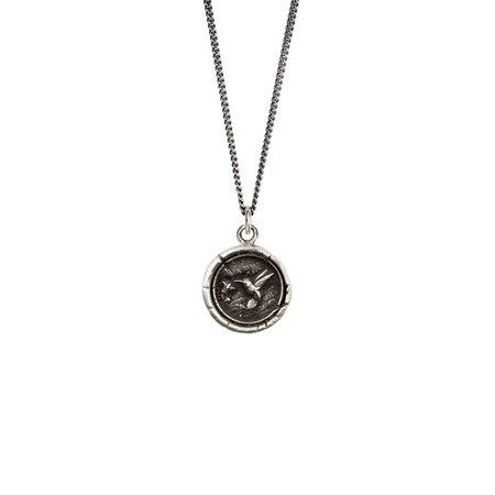 Pyrrha hummingbird necklace - sterling silver