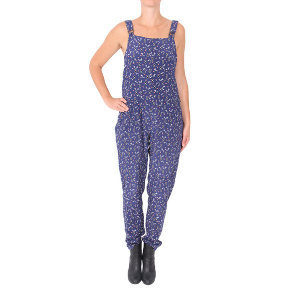 Sea Silk Overalls in Blue Print