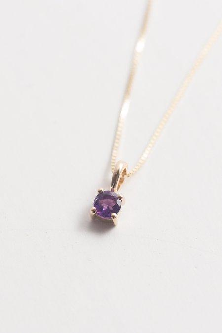 Leah Alexandra Element Necklace - Amethyst