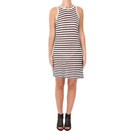 T by Alexander Wang Stripe Linen Tank Dress