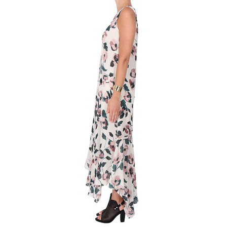 Suno Floral Print Silk Dress
