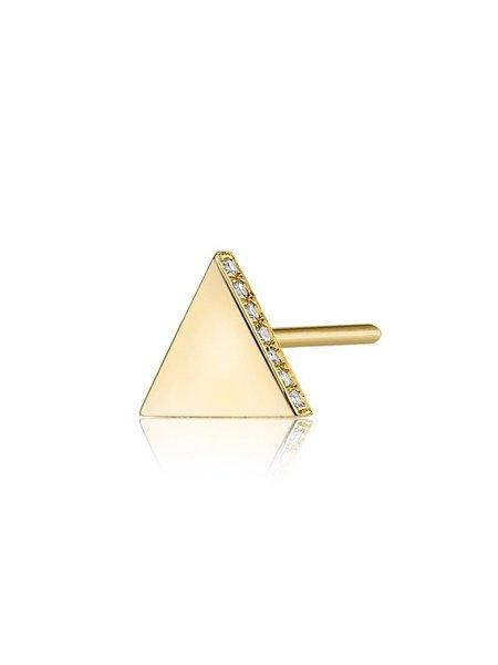 SMITH + MARA Single Triangle Stud - 14K Diamond