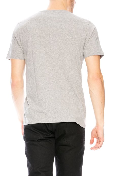 Yeah Right NYC Bad Habits Embroidered T-Shirt - Grey/Red