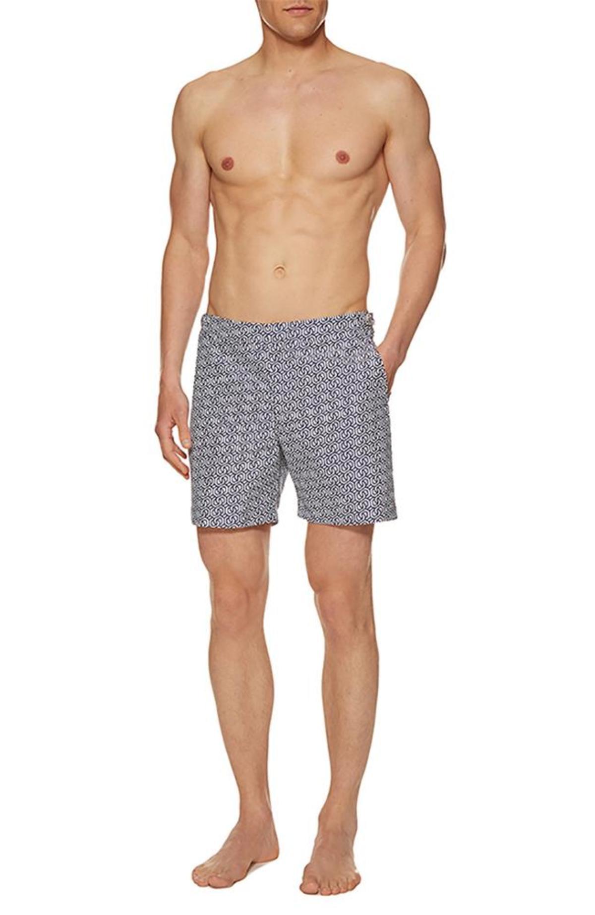 211681b87 Orlebar Brown Bulldog Swim Shorts - Navy Chain Print