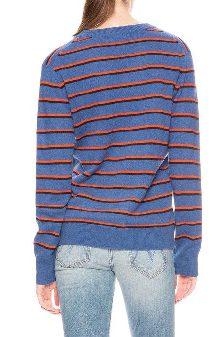 Kule Camden V-Neck Sweater - Striped