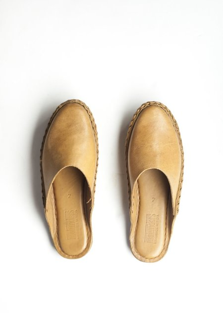 Mohinders Solid Leather City Slippers - Natural