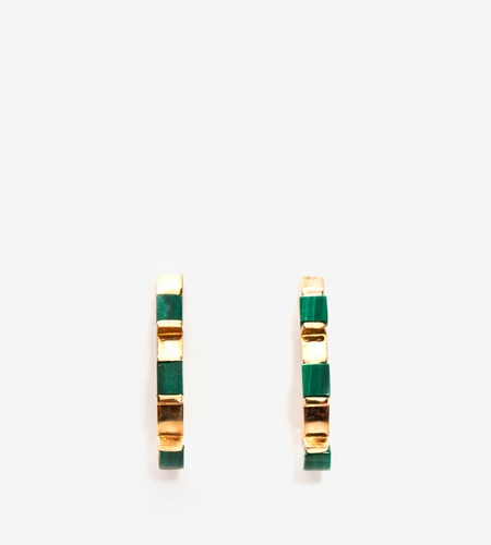 Luz Ortiz Cubik Malachite Earrings