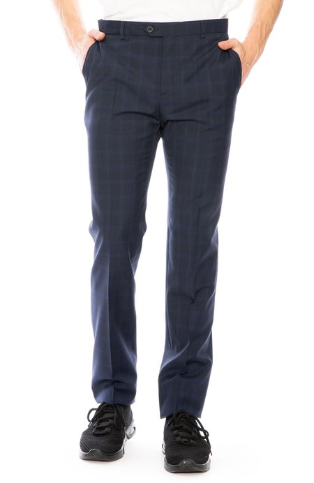 Editions M.R. Checkered Suit Pant - Navy