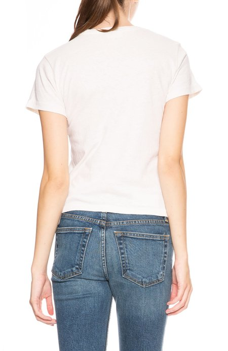 Re/Done Classic Cowgirl Tee - Vintage White
