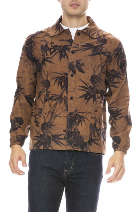 ZIRAN Coaches Jacket with Mother Nature Chain Stitch - BAMBOO