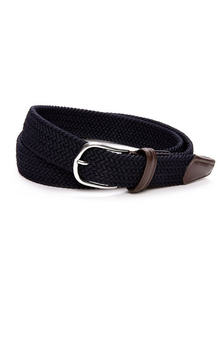 Anderson's Core Stretch Braided Belt - Navy