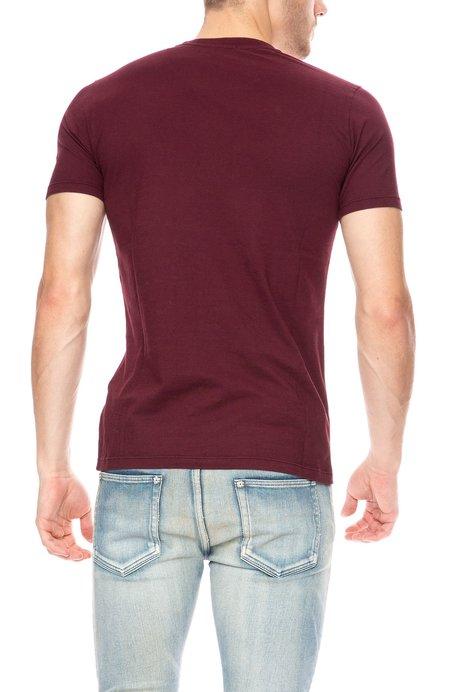 Denham Crew Neck Short Sleeve T-Shirt - Merlot