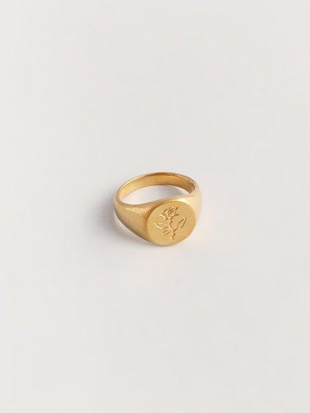 Wolf Circus Rose Ring - Gold