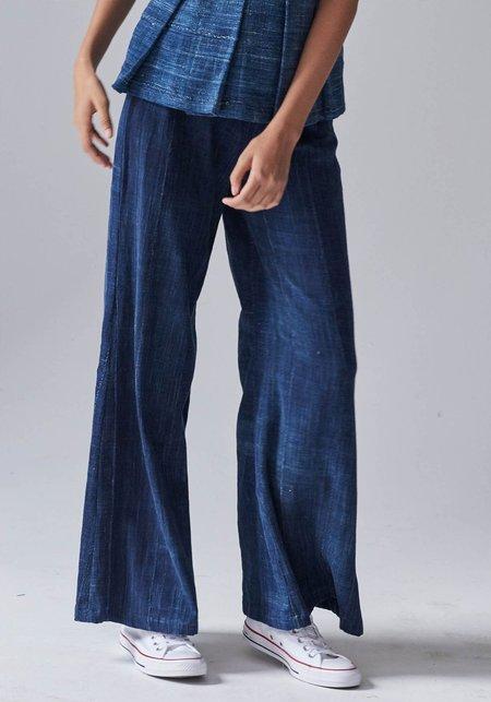 Studio One Eighty Nine Wide Leg Long Pants - Indigo