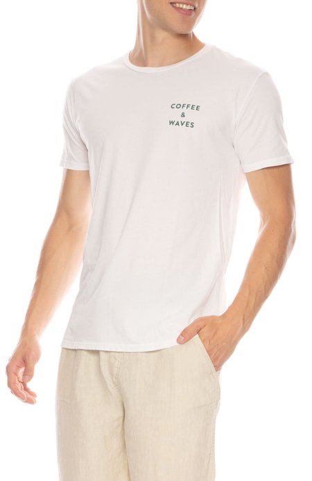 QUALITY PEOPLES X RH Exclusive Coffee & Waves Tee - WHITE