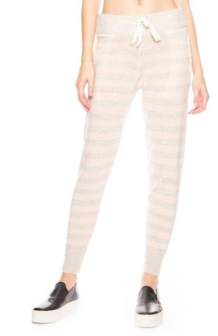 Morgan Lane Hailey Stripe Cashmere Pant - Vanilla/Pale