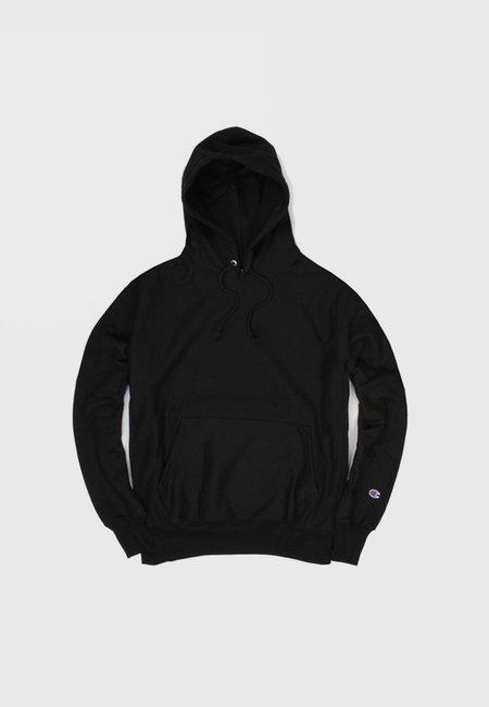 Unisex Champion Blank Reverse Weave Hoodie - Black