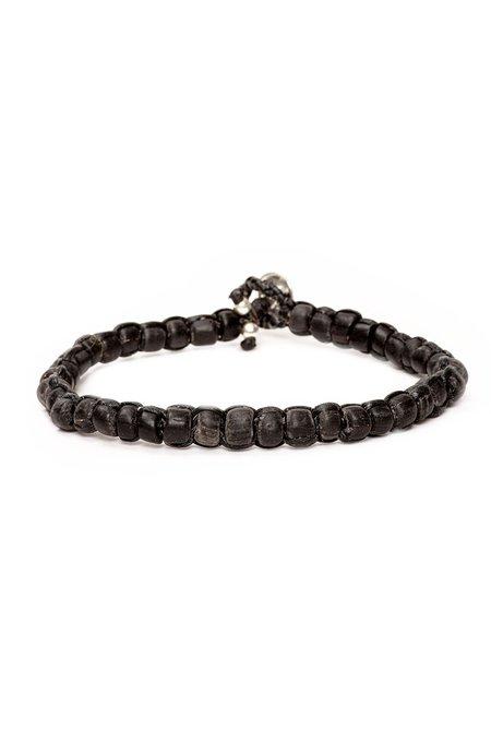 CAPUTO & CO Handwoven Recycled Glass Bead Bracelet