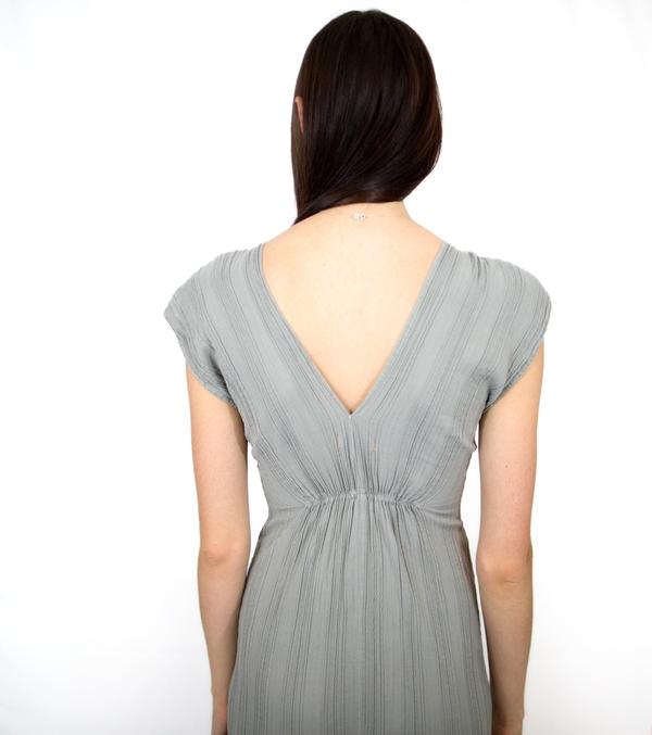 Esby Navy Beach Maxi Dress