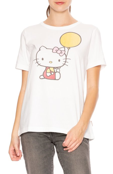 2687937d0 ... Chinti and Parker Hello Kitty Balloon Cotton Tee - White