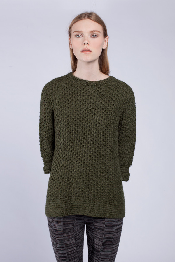 Forest Honeycomb Pullover
