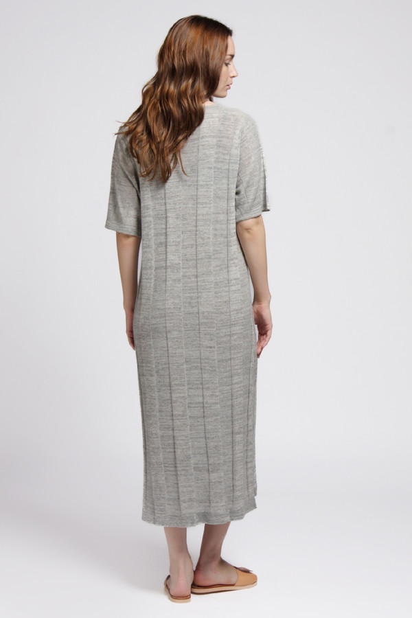 Micaela Greg Grey Ladder Tee Dress