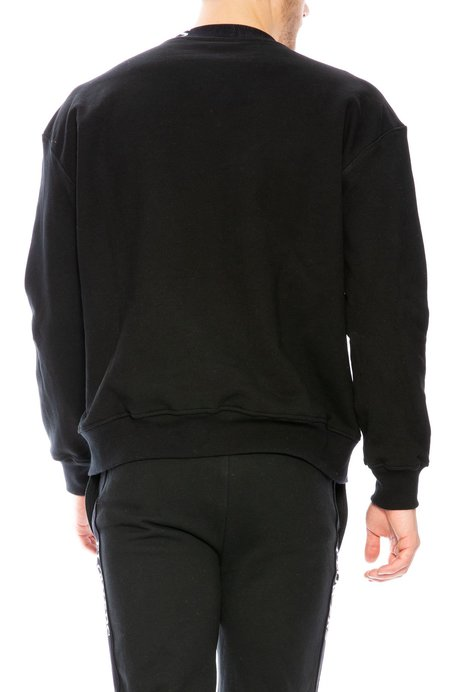 FLOWERS Logo Crew Neck Sweatshirt - Black