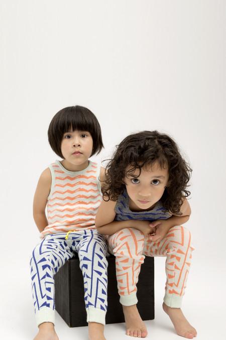 Kids' Micaela Greg Tangerine Zig Zag Sweatpant