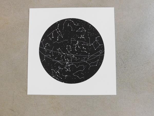 Tim + April Constellation Art Print