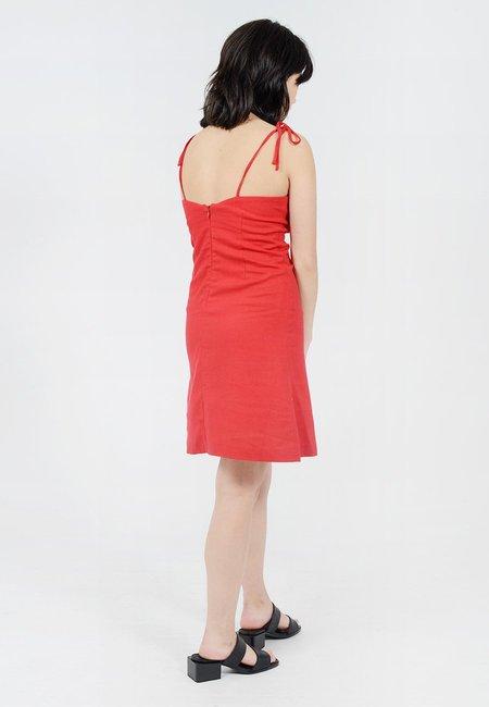 Rollas Bridget Tie Dress - Red
