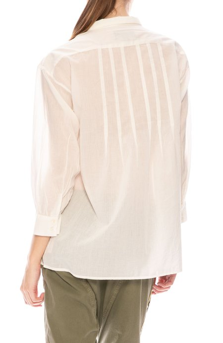 Nili Lotan Myra Cotton Top - Ivory