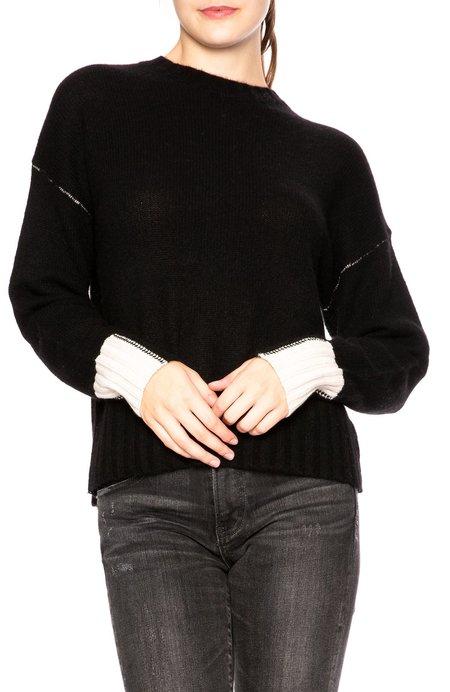 360 sweater Nika Contrast Sweater - Black