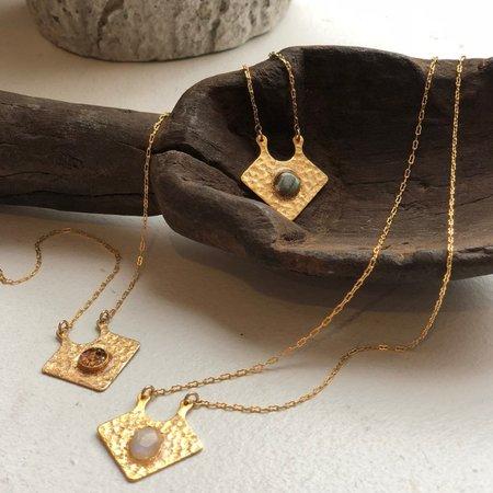 Black Black Moon Gilded Pendant Necklaces