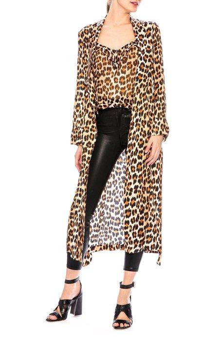 Icons PJ Draper Robe - Leopard Print