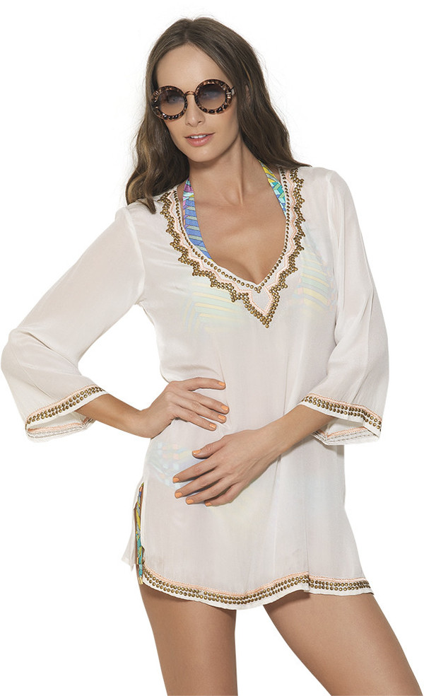 Estivo Bronze Beaded Cover Up