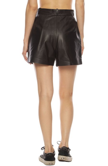 Nili Lotan Roxana Leather Short - Black