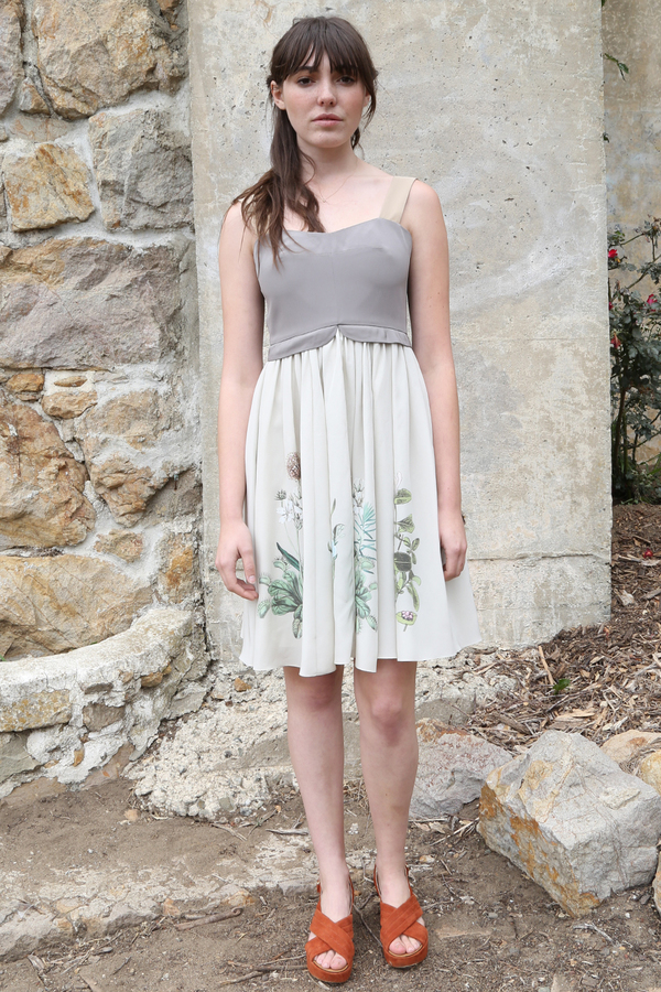Plante Freesia Dress in Botanical Print