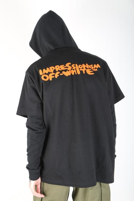 Off-White c/o Virgil Abloh Bubble Front T Hoodie - black