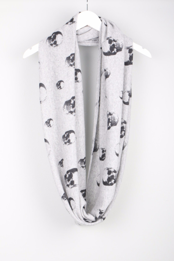 Skull Cashmere Infinity Scarf