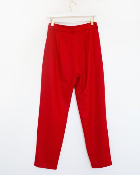 No.6 Justin Pleated Pant - Red Wool