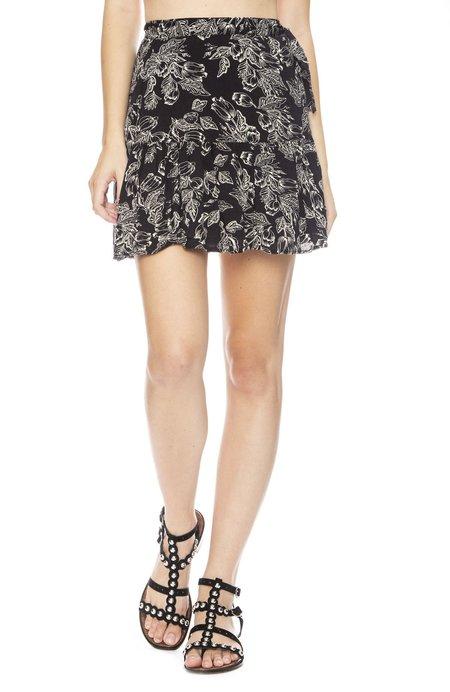 Amuse Society Steal My Heart Wrap Skirt - Black Sands