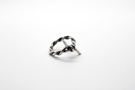 The Silver Stone Silver Barbed Wire Ring