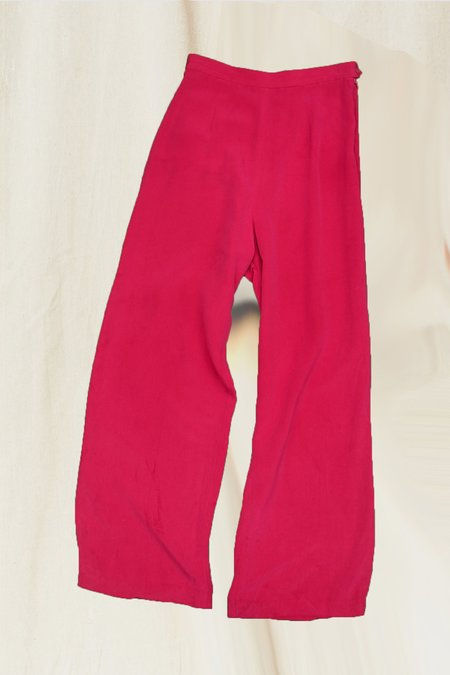 Vintage Silk Pant - Fuschia
