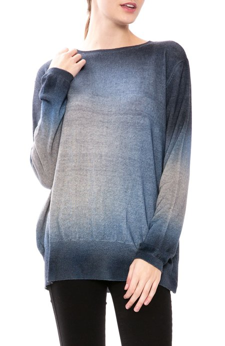 Avant Toi Washed Effect Sweater - Navy