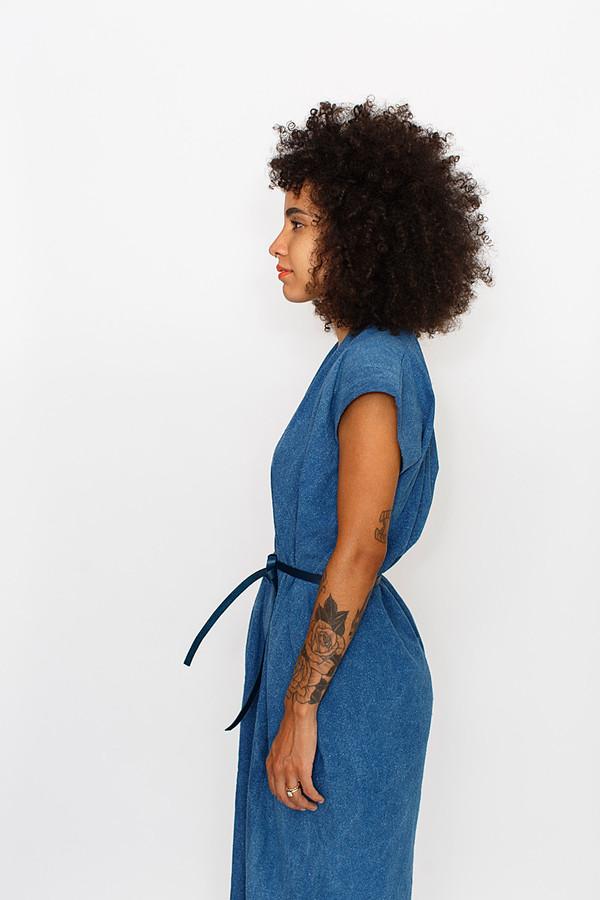 Miranda Bennett Indigo Tempest Dress - Silk Noil