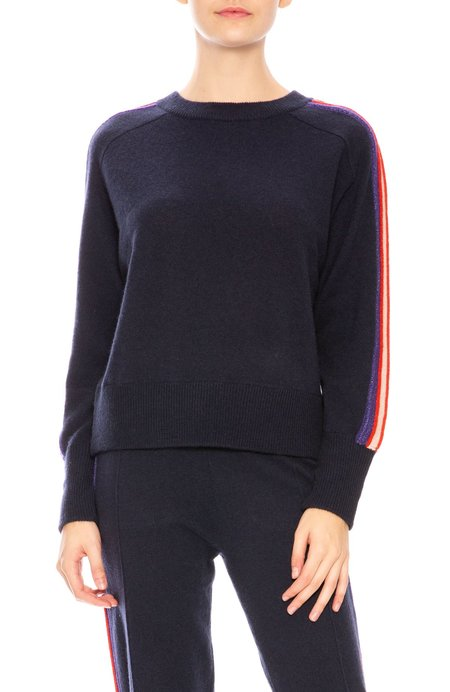 27 Miles Willard Metallic Cashmere Sweater - Navy Multi