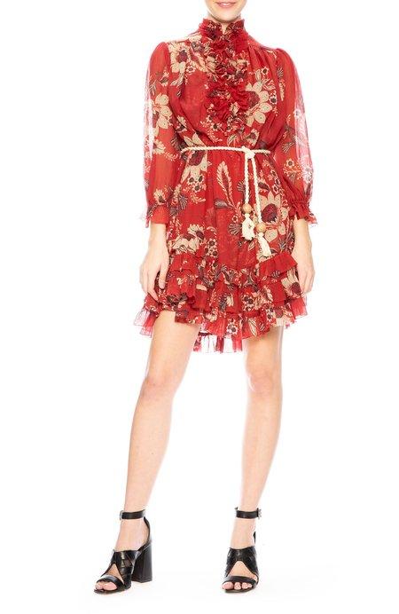 Zimmermann Juno Frill Dress - Rosa Batik
