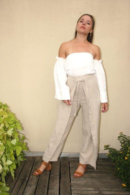 SIR the Label Kai Tie Culotte - Ecru