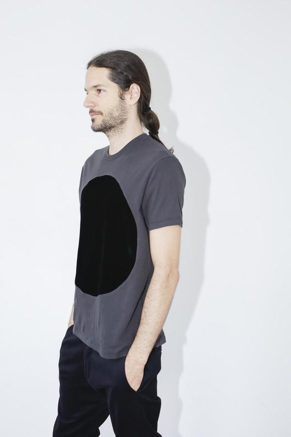 Unisex Correll Correll Black Velvet Circle T-shirt