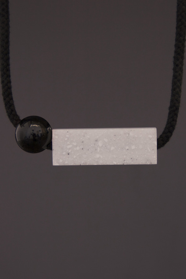 One We Made Earlier Frank Necklace Black